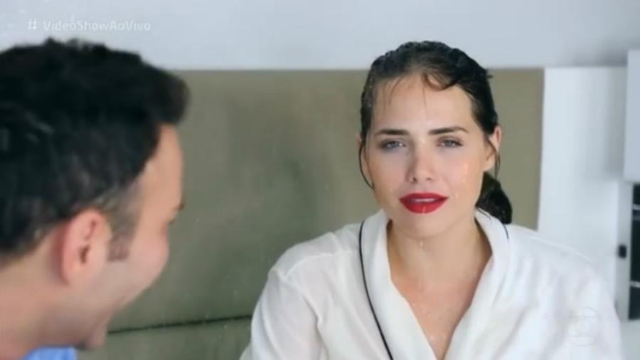 Letícia Colin em entrevista a Matheus Mazzafera - Reprodução/Globo