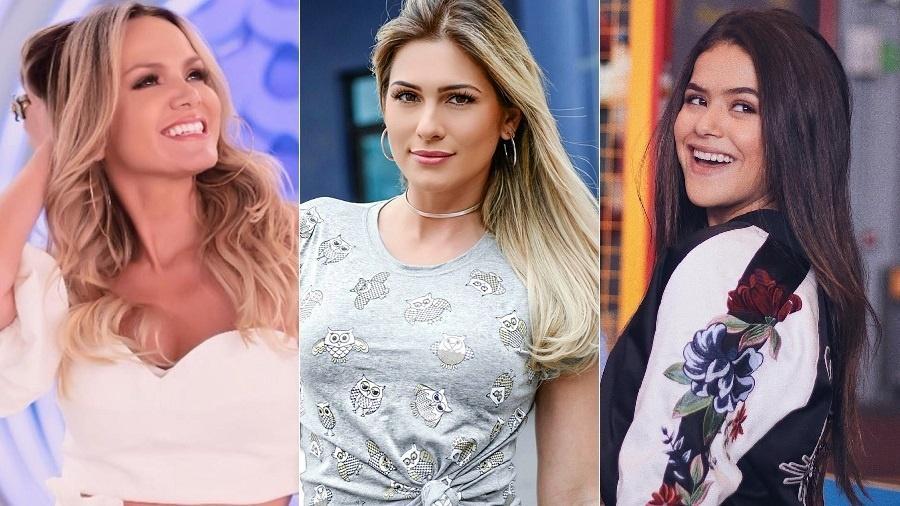 Eliana, Lívia Andrade e Maisa, três estrelas empoderadoras do SBT - Montagem/UOL/Reprodução/Instagram/eliana/liviaandradereal/maisa
