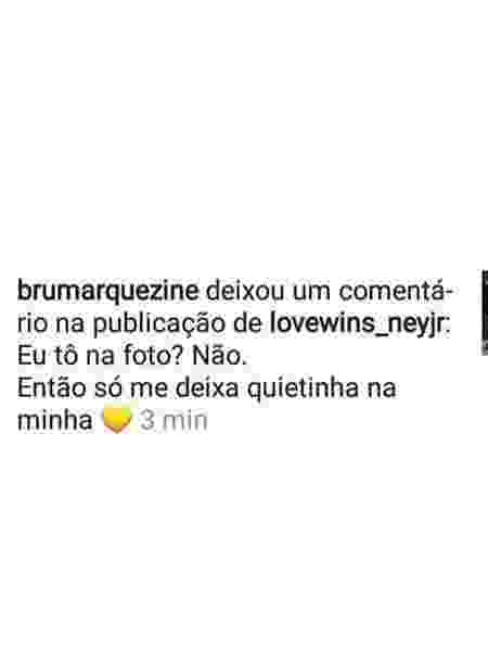 O post foi apagado depois da chuva de comentários dos fãs  - Reprodução/Instagram/@lovewins_neyjr - Reprodução/Instagram/@lovewins_neyjr