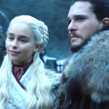 """Daenerys e Jon Snow em cena de """"Game of Thrones"""" divulgada pela HBO - Reprodução"""
