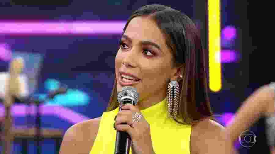 """Anitta no """"Domingão do Faustão"""" - Reprodução/TV Globo"""