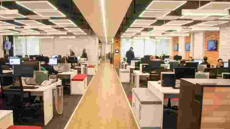 Foto das novas instalações do jornalismo da Record - Antonio Chahestian/Record TV