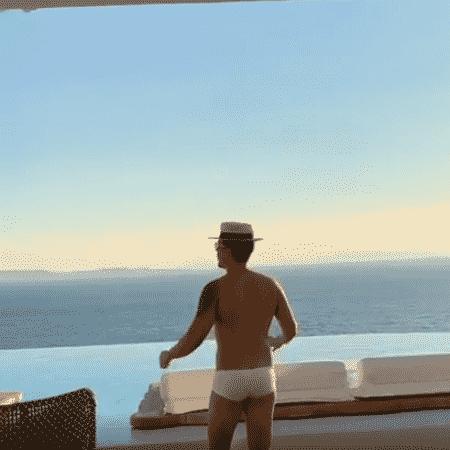 Carlinhos Maia em hotel em Mykonos - Reprodução/Instagram