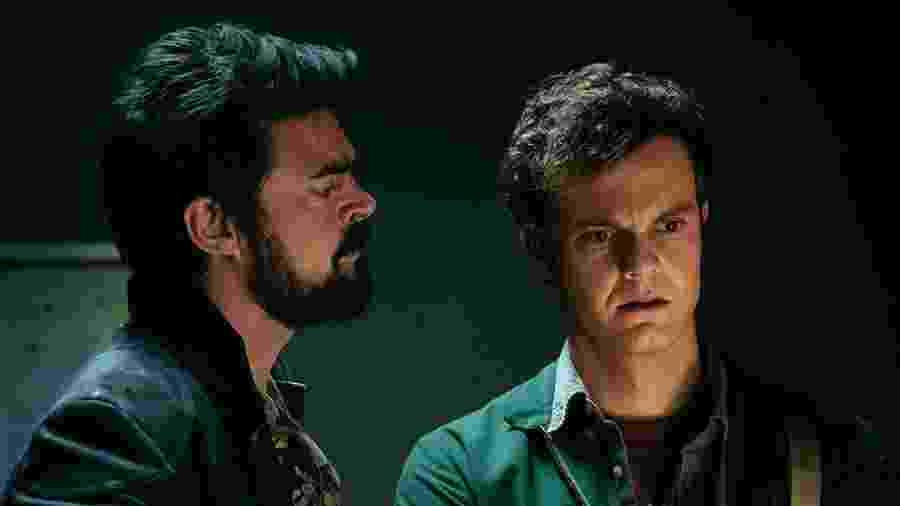 Karl Urban e Jack Quaid em cena de The Boys, da Amazon - Divulgação
