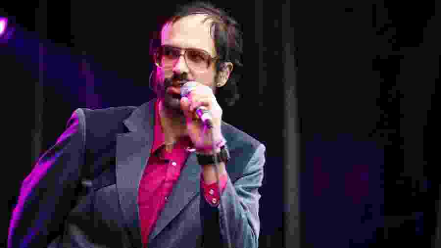 David Berman, líder do Silver Jews, durante show no festival Primavera Sound, em 2008 - Gary Wolstenholme/Redfern/Getty Images