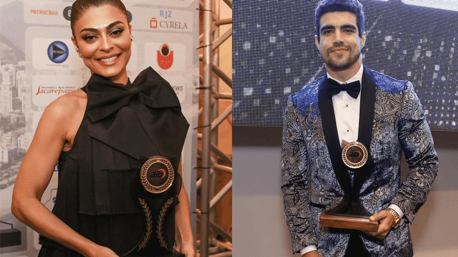 Juliana Paes e Caio Castro recebem prêmio da Associação da Imprensa do Brasil (AIB) - ROBERTO FILHO/BRAZIL NEWS