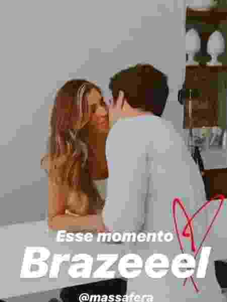 Grazi Massafera e Caio Castro se beijam em gravação - Reprodução/Instagram
