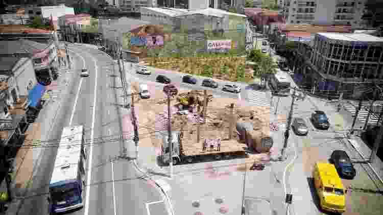 Construção do jardim de chuva no Largo da Batata, na zona oeste de SP  - Arquivo Pessoal