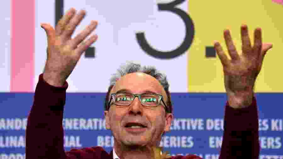 "Roberto Benigni durante a coletiva de imprensa de ""Pinóquio""  no 70º Festival de Berlim - John Macdougall/AFP"