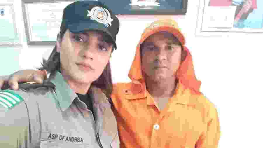 Andreia Tavares e o marido José: ele trazia livros que as pessoas jogavam fora e ela estudava para virar oficial da PM - Arquivo Pessoal