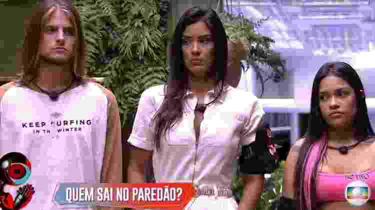 Daniel, Ivy e Flayslane estão no paredão  - Reprodução/TV Globo - Reprodução/TV Globo