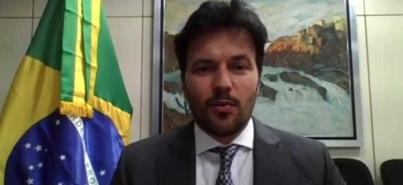 """O ministro das Comunicações, Fábio Faria, disse no Twitter que a TV Brasil dá """"prejuízo de R$ 550 mi por ano"""" - Reprodução"""