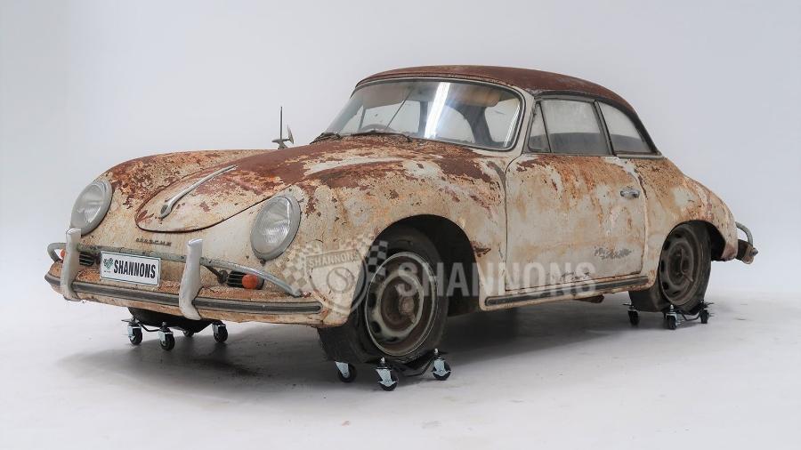 Porsche 356A Cabriolet 1958 enferrujado - Divulgação