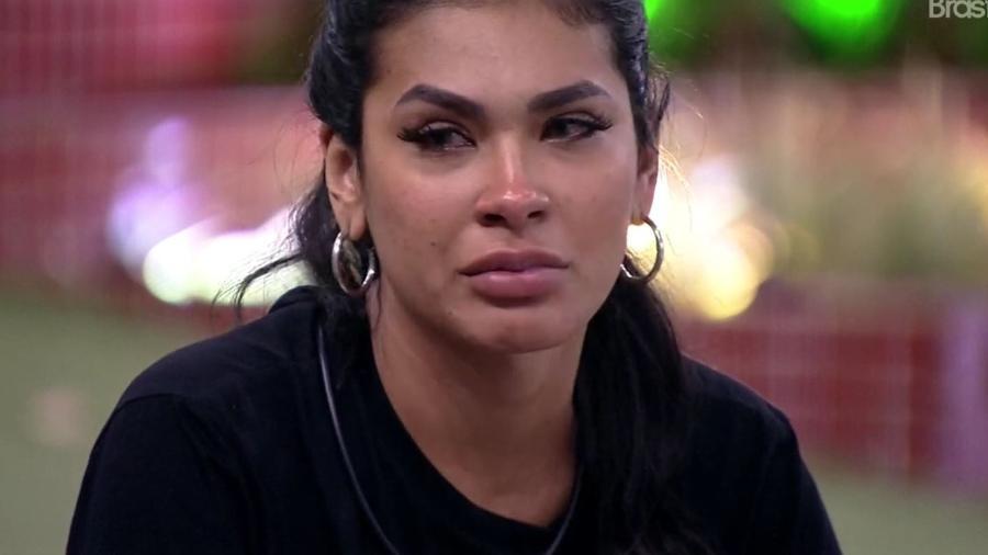 BBB 21: Pocah chora durante conversa com Projota - Reprodução/ Globoplay