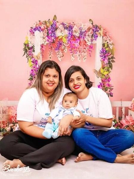 Aline e Simone engravidaram com a técnica caseira após tentativas em clínicas de fertilização - Arquivo pessoal