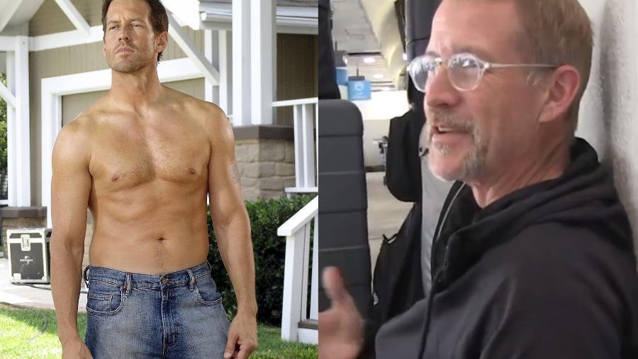 """James Denton em """"Desperate Housewives"""" e hoje em dia - Reprodução/YouTube"""