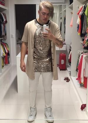 Whindersson vestido de Justin Bieber para mais uma de suas paródias no YouTube - Reprodução/Facebook