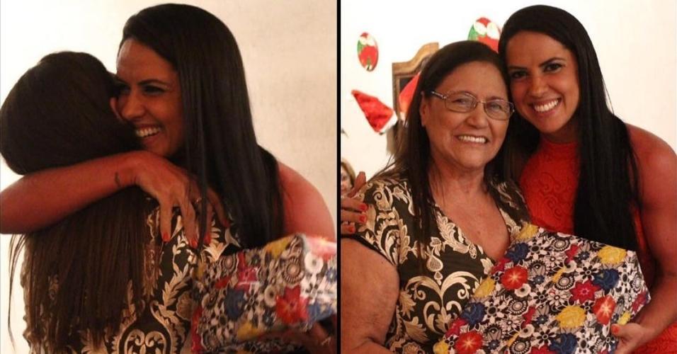 Graciele Lacerda com a sogra, Helena Camargo, no primeiro Natal ao lado da família de Zezé