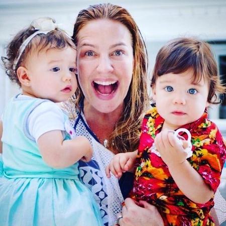 Luana Piovani com os filhos gêmeos, Liz e Bem - Reprodução/Instagram