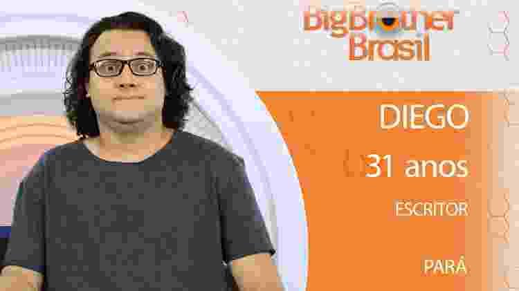 Diego do BBB18 - Divulgação/TV Globo - Divulgação/TV Globo