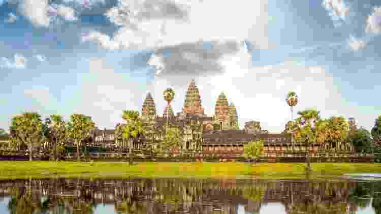 O templo de Angkor Wat, no Camboja - Getty Images