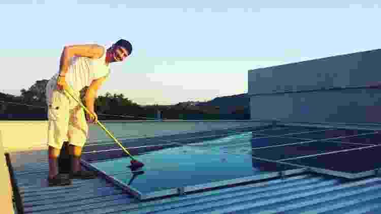 Leonardo Coelho quase zerou a conta com energia elétrica ao instalar células fotovoltaicas em casa - Arquivo Pessoal