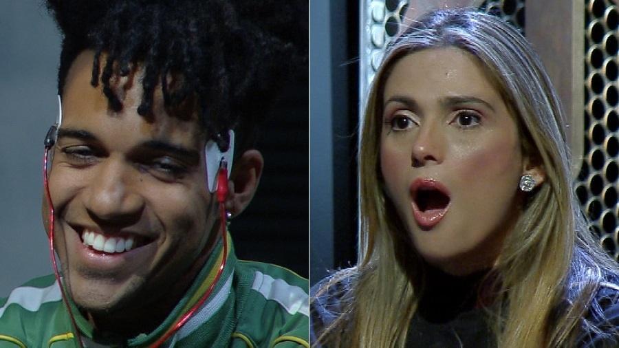 """Vinicius D""""Black enfrenta polígrafo e choca a mulher, Nadja Pessoa, no """"Power Couple"""" - Montagem/UOL/Divulgação/Record"""