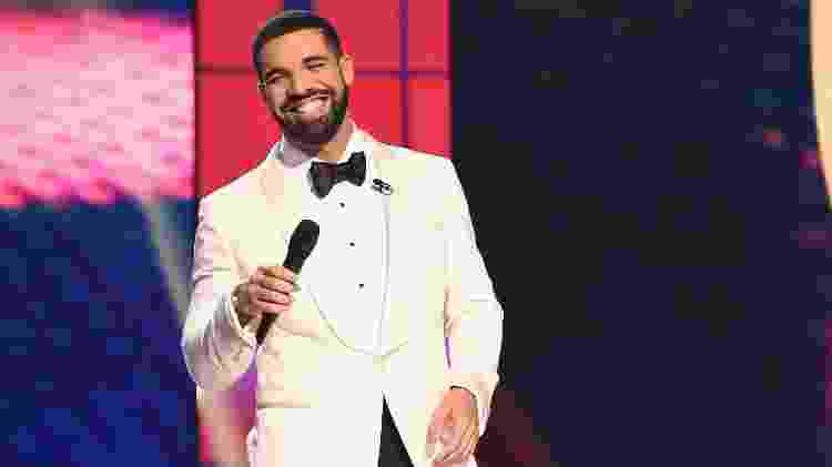 Drake durante o NBA Awards Live - Getty Images/TNT - Getty Images/TNT