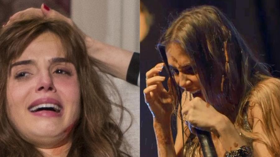 """Rochelle (Giovanna Lancellotti) e Karola (Deborah Secco) em """"Segundo Sol"""" - Montagem/UOL"""