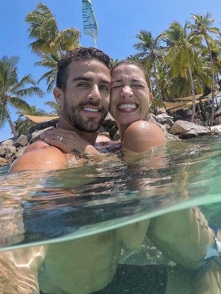 Gabriela Pugliesi e Erasmo Viana nas Ilhas Maldivas - Reprodução/Instagram