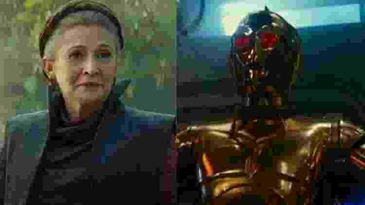 Leia e C-3PO - Reprodução/Montagem