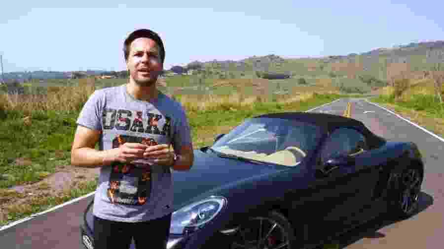 """Gerson Campos, do canal """"Acelerados"""", trocou BMW adquirida de forma convencional por um Porsche 718 Boxster compartilhado - Reprodução"""