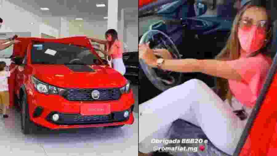 Ivy Moraes recebe o carro que ganhou no BBB 20 - Reprodução/Instagram