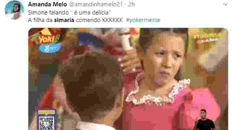 Filha Simaria - Reprodução/Twitter - Reprodução/Twitter