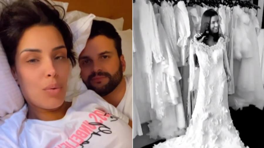 Ivy Moraes falou no Instagram sobre os preparativos do casamento com o noivo, Rogério Fernandes - Reprodução/Instagram