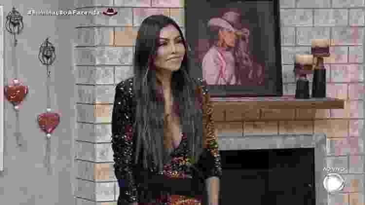 A Fazenda 2021: Liziane Gutierrez é a primeira eliminada - Reprodução/RecordTV - Reprodução/RecordTV