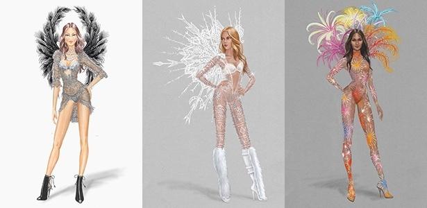 Croquis revelam os modelos The Portrait of an Angel, Ice Angel e Fireworks - Divulgação