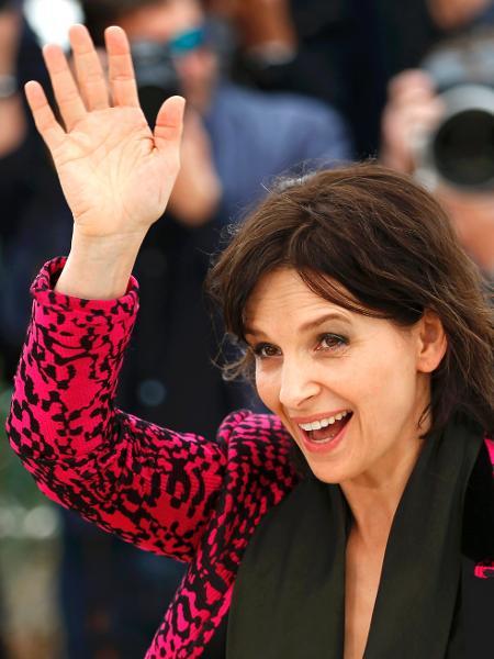 "13.mai.2016 - FJuliette Binoche divulga o filme ""Ma Loute"" em Cannes -  REUTERS/Yves Herman"