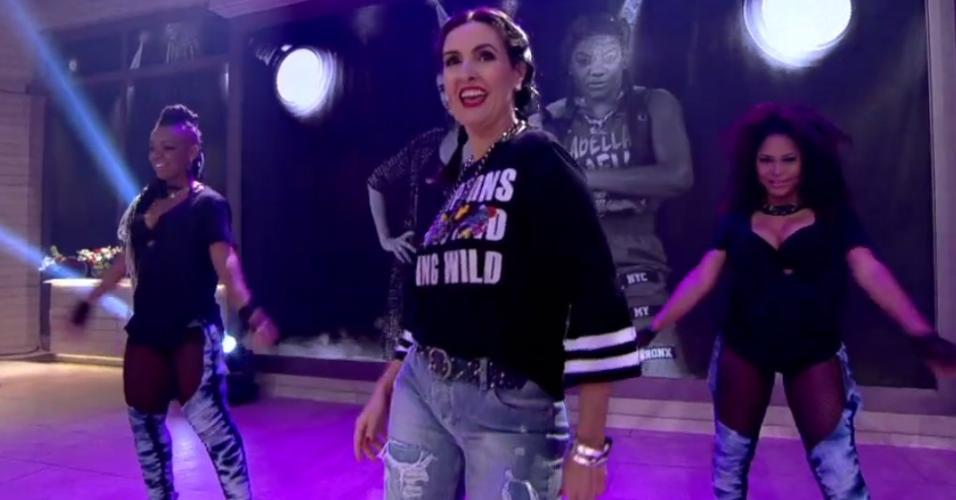 Fátima Bernardes dança funk com Ludmilla no