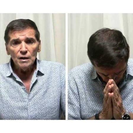 Jerry Adriani em imagem feita pelo amigo, o também cantor José Roberto de Sá - Reprodução/Facebook