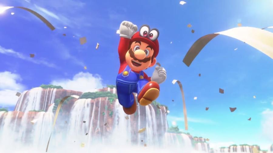 """""""Super Mario Odyssey"""" será a primeira aventura solo do personagem no Switch e encantou os presentes na E3 - Reprodução"""
