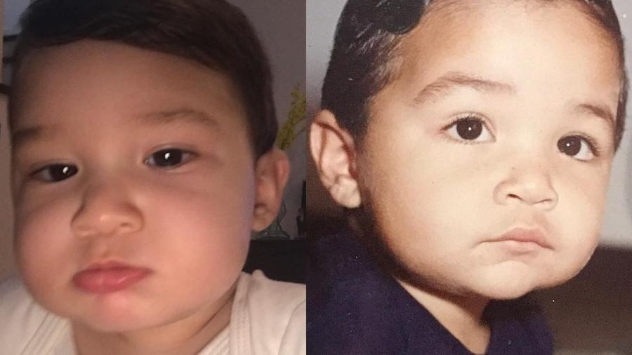 Jonathan Costa publica foto de infância e compara com o filho, Salvatore - Reprodução/Instagram/jonathancostaoficial
