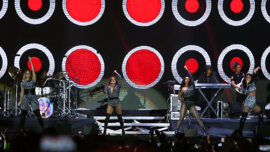 """""""Isso é tão grande, provavelmente nosso maior público até agora. Aqui é o nosso local favorito"""", gritou Normani no meio do show. Fifth Harmony é um grupo pop formado no X Factor dos EUA - Amanda Perobelli/UOL"""