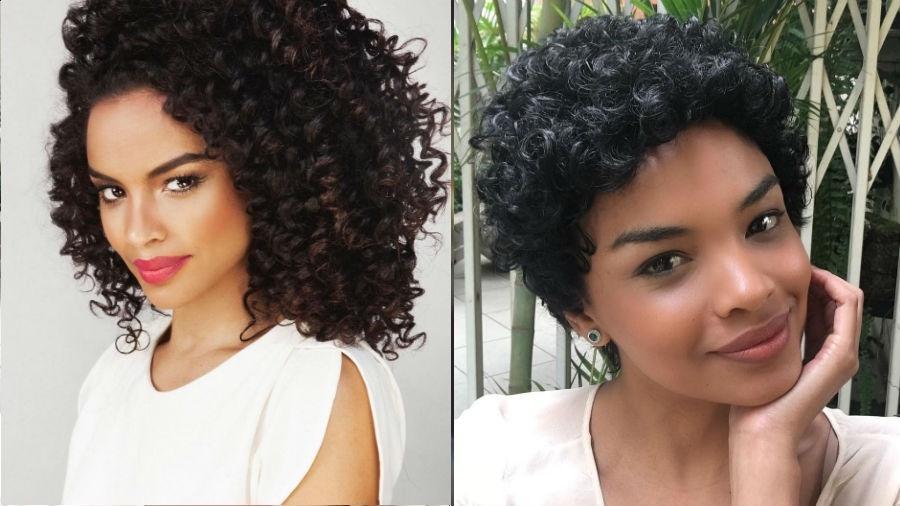 Lucy Ramos: antes e depois de novo visual - Reprodução/Instagram