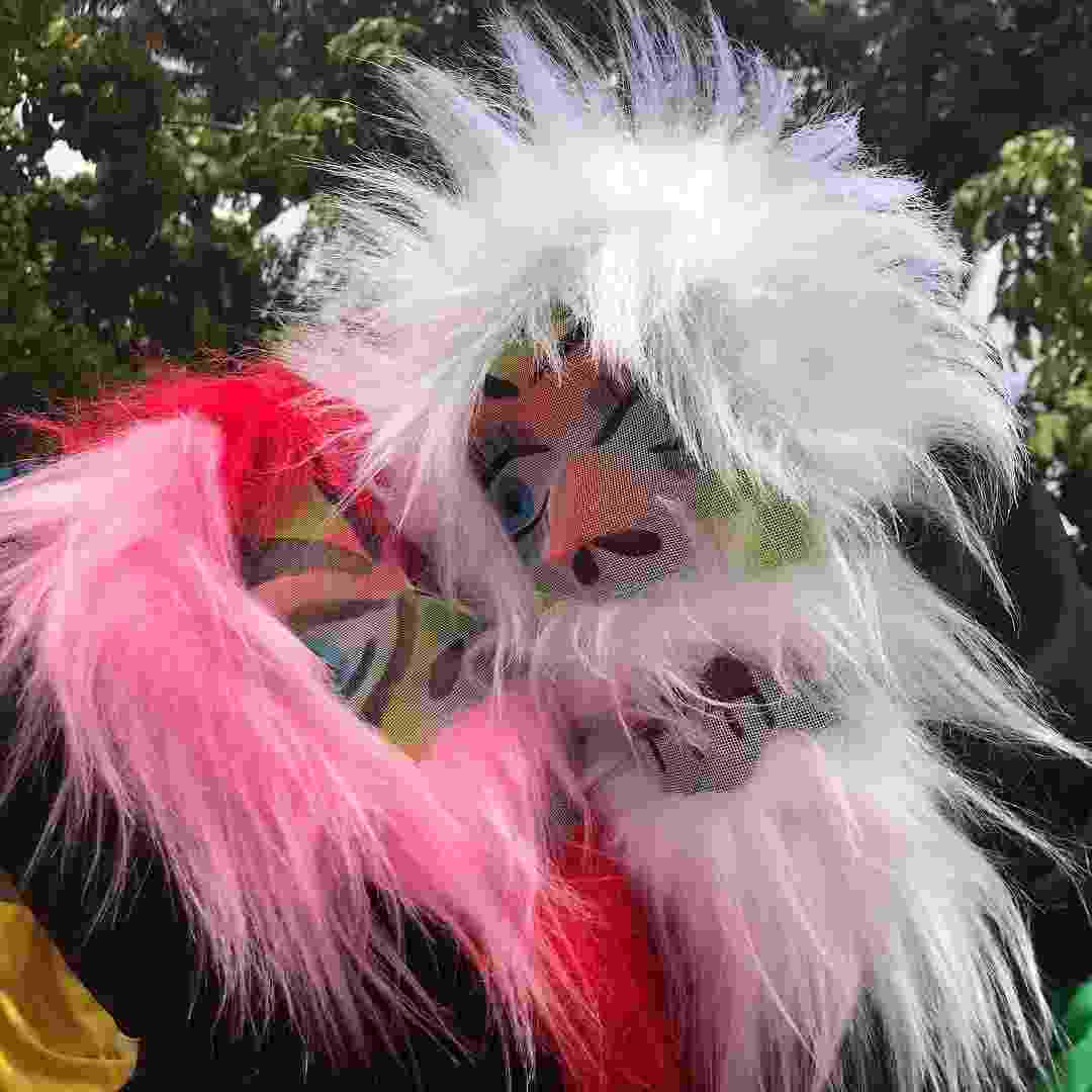 Mascarados, Fátima Bernardes e Túlio Gadelha curtem o pré-Carnaval mascarados - Reprodução/Instagram
