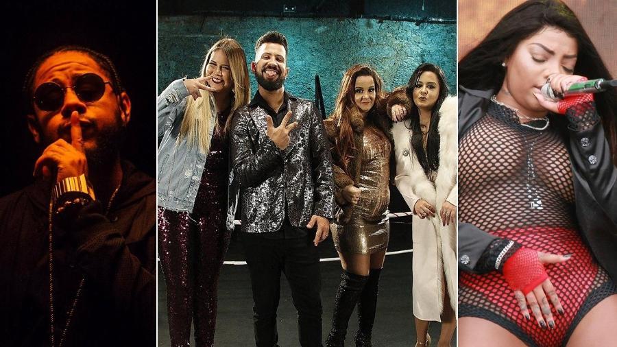 Emicida, Marília Mendonça (em parceria com Dennis DJ e Maiara & Maraísa) e Ludmilla soltaram músicas novas essa semana - Divulgação