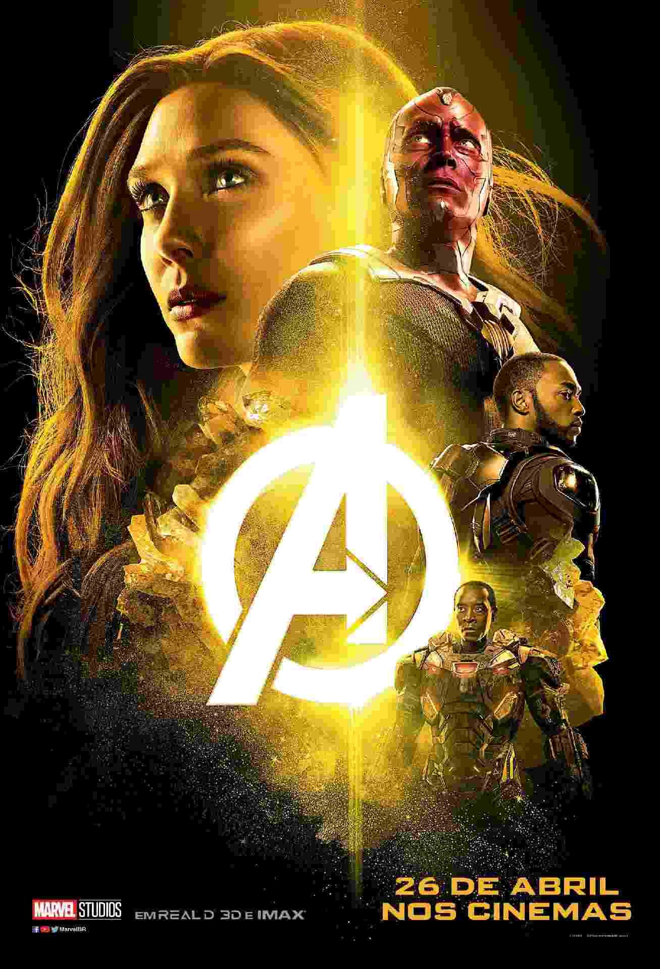 """Marvel divulga novos pôsteres de """"Vingadores: Guerra Infnita"""" - Divulgação/Marvel"""