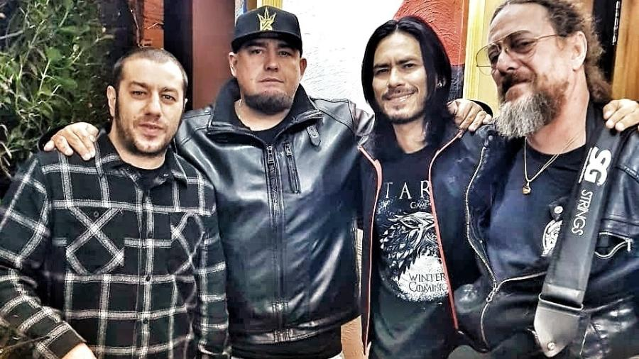 Badauí (CPM22), Digão (Raimundos), Japinha (CPM22) e Canisso (Raimundos) - Divulgação