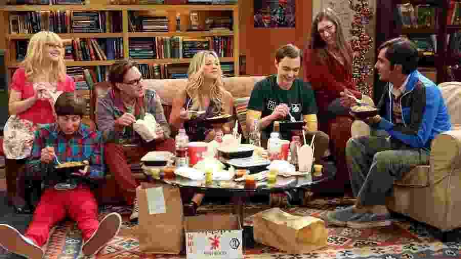 """Todos os amigos reunidos em """"The Big Bang Theory"""" - Divulgação"""