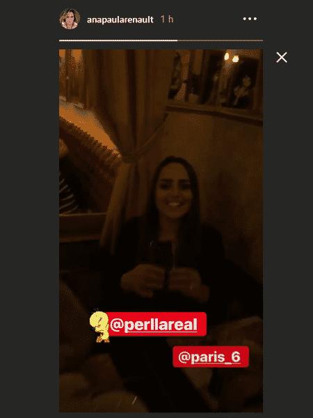 """Ana Paula Renault posta vídeo de reencontro com Perlla após """"A Fazenda 10"""" - Reprodução/instagram"""